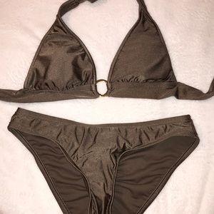 Bronze Halter Ring Bikini